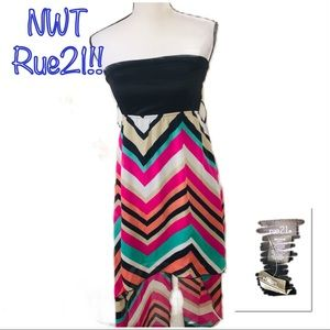 ‼️🔥NWT RUE21 Strapless High Low Dress!🔥‼️